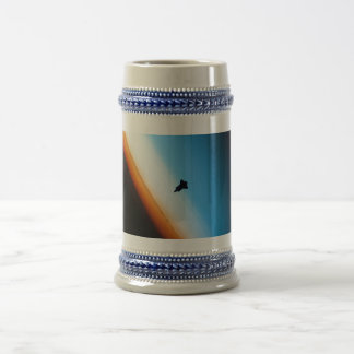 Silhouette of the Space Shuttle Endeavour Beer Stein