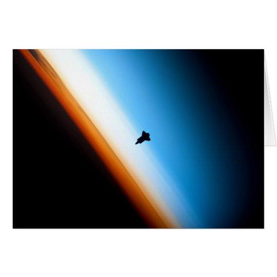 Silhouette of the Space Shuttle Endeavour Card