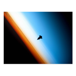 Silhouette of the Space Shuttle Endeavour Postcard