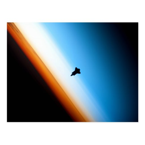 Silhouette of the Space Shuttle Endeavour Post Card
