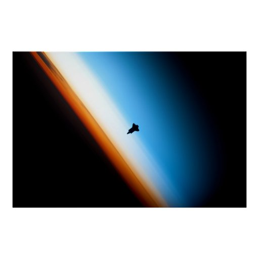 Silhouette of the Space Shuttle Endeavour Print