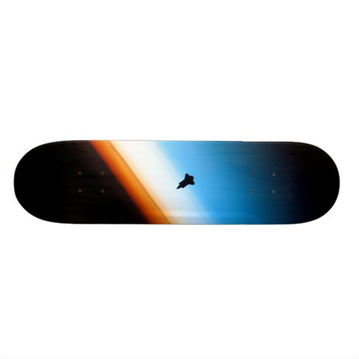 Silhouette of the Space Shuttle Endeavour Skateboards