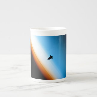 Silhouette of the Space Shuttle Endeavour Porcelain Mugs