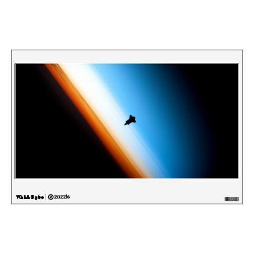 Silhouette of the Space Shuttle Endeavour Wall Graphic