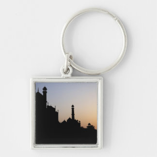 Silhouette of The Taj Mahal at sunset, Agra, Keychain