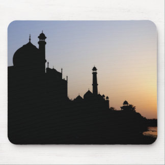 Silhouette of The Taj Mahal at sunset, Agra, Mouse Pad