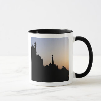 Silhouette of The Taj Mahal at sunset, Agra, Mug