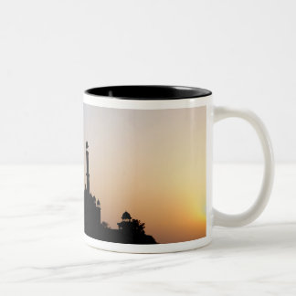 Silhouette of The Taj Mahal at sunset, Agra, Two-Tone Coffee Mug