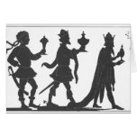 Silhouette of the Three Kings Greeting Card