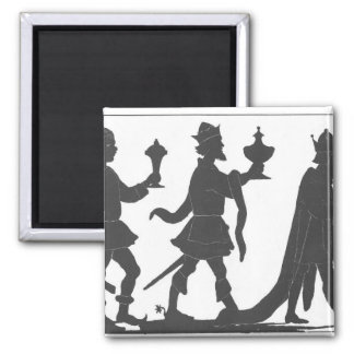 Silhouette of the Three Kings Magnet