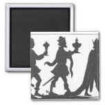 Silhouette of the Three Kings Refrigerator Magnet