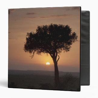 Silhouette of tree on plain, Masai Mara 2 Binder