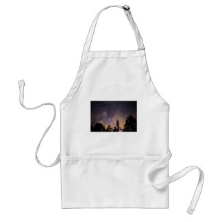 Silhouette of Trees at Night Adult Apron