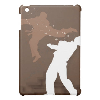 Silhouette of two men practicing karate case for the iPad mini