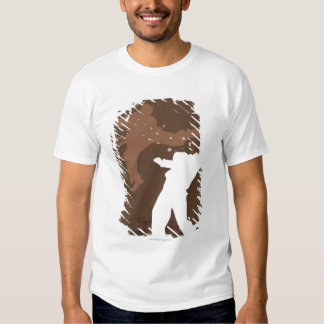 Silhouette of two men practicing karate t-shirt