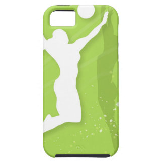 Silhouette of two women playing volleyball iPhone 5 cases