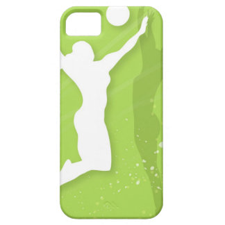 Silhouette of two women playing volleyball iPhone 5 cover