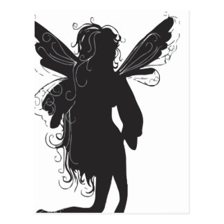 Silhouette of Winged Fairy Postcards