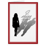 Silhouette of Woman Missing Man Card