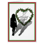 Silhouette of Woman Missing Man Christmas Card