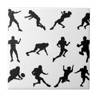 Silhouette outlines of skating skateboarders ceramic tile
