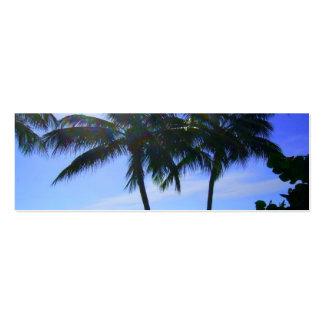 Silhouette Palm Trees bookmark Mini Business Card