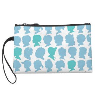 Silhouette Pattern Mini Clutch Bag Wristlet Purses