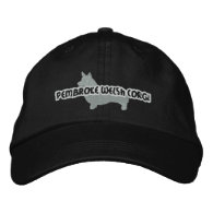Silhouette Pembroke Welsh Corgi Embroidered Hat Embroidered Hat