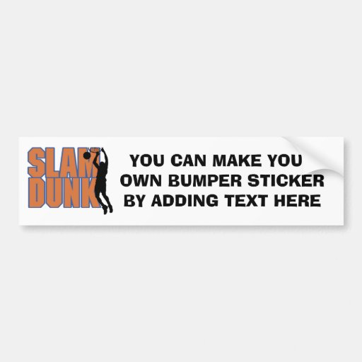 Silhouette Player Slam Dunk Tshirts and Gifts Bumper Stickers