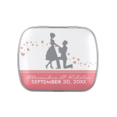Silhouette Proposal Wedding Favor Tins (rose Pink) Candy Tin at Zazzle