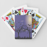 Silhouette Raven and bats Bicycle Card Deck