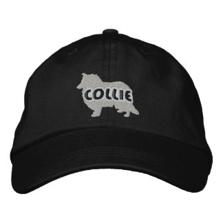 Silhouette Rough Collie Embroidered Hat