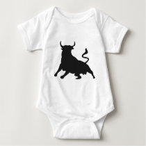 Silhouette Running with the Bulls Spain Baby Bodysuit