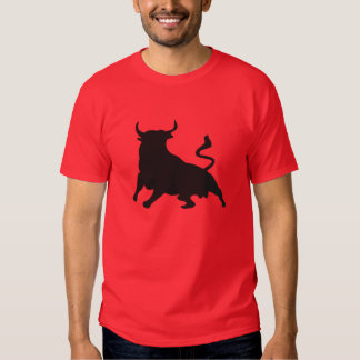 Silhouette Running with the Bulls Spain T Shirt