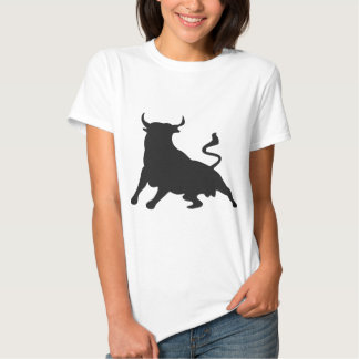 Silhouette Running with the Bulls Spain Tee Shirt