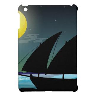 Silhouette sailboat at sea cover for the iPad mini