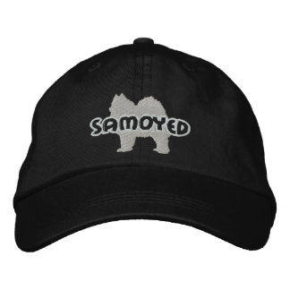 Silhouette Samoyed Embroidered Hat