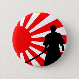Silhouette Samurai Pinback Button