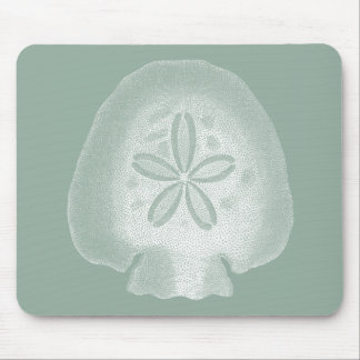 Silhouette Sand Dollar Mouse Pad