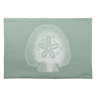 Silhouette Sand Dollar Cloth Placemat