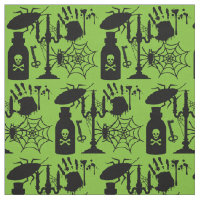 Silhouette Scary Halloween Fabric