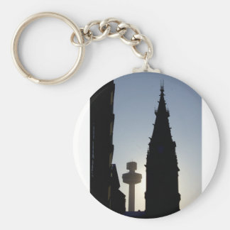 Silhouette Scene, Liverpool UK Keychains