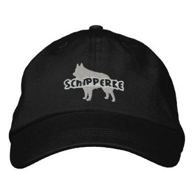 Silhouette Schipperke Embroidered Hat