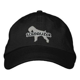 Silhouette Schnauzer Embroidered Hat