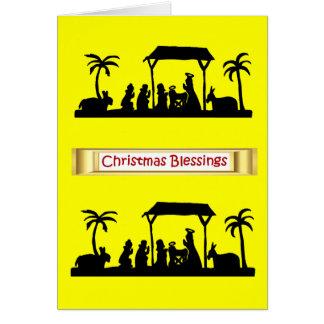 Silhouette Sensations Nativity scene 4 Card