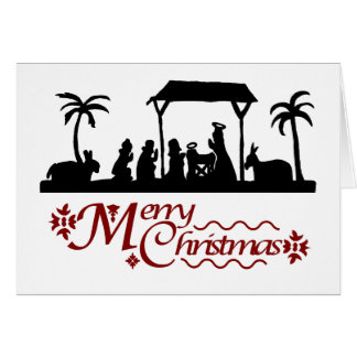 Silhouette Sensations Traditional Nativity Cards