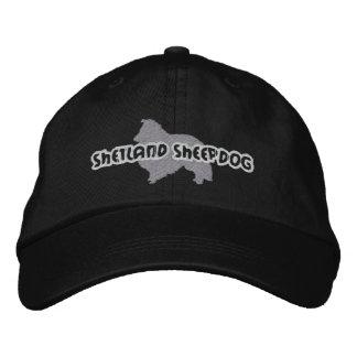 Silhouette Shetland Sheepdog Embroidered Baseball Cap