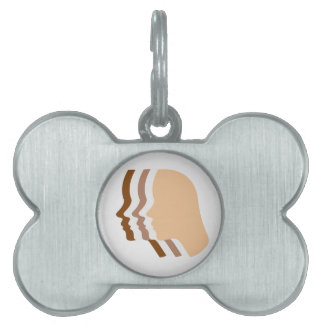 Silhouette showing tanning of skin pet ID tag