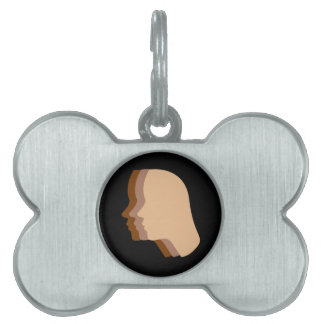 Silhouette showing tanning of skin pet name tag