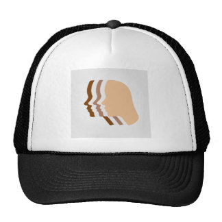 Silhouette showing tanning of skin trucker hat